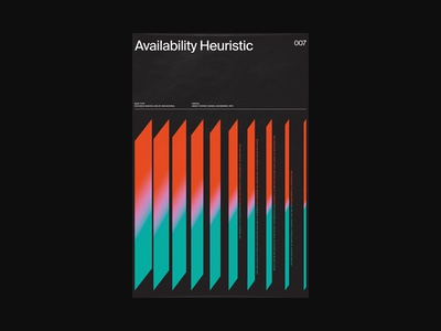CB007: Availability Heuristic op art abstract psychology cognitive print xtian typography typographic type swiss posters poster design poster print design graphic design