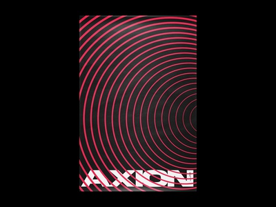 Axion abstract art illustration opart op art abstract print xtian typography typographic type swiss posters poster design poster print design graphic design