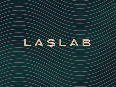 Laslab typography branding logo design