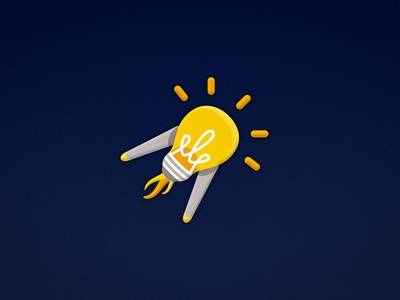 Idea illustration design logo branding