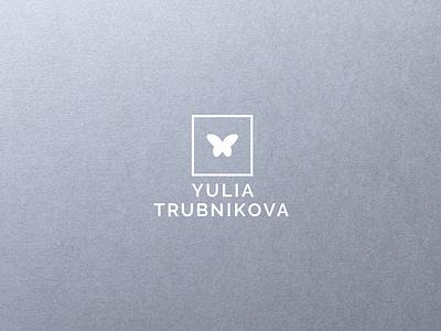 Yulia Trubnikova butterfly logo minimalism logo design branding