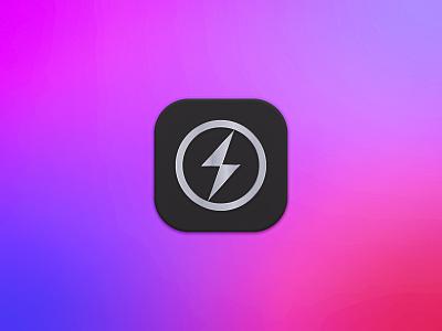 Drive Charge App app icon big sur macos icon lighting bolt energy logo app logo logo design branding design logo