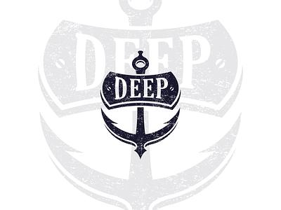 Deep Bar branding anchor logo deep anchor design logo