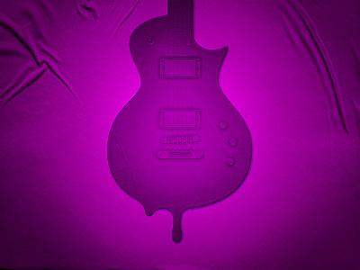 Guitar Cream design icecream guitar illustration poster