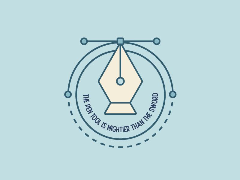 The Pen Tool vector font design illustrator badge design modern typography type illustration pen tool badge