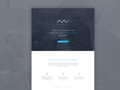 Medvise landing page medical landingpage website hero flat simple call to action