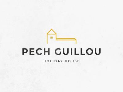 Pech Guillou logo bnb hotel lines house logo