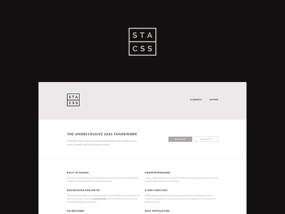 Launched STACSS! product page framework css stacss