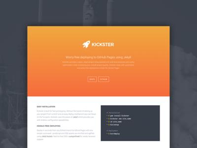 Kickster landing page github pages github circle ci simple kickster landing page deployment product page jekyll