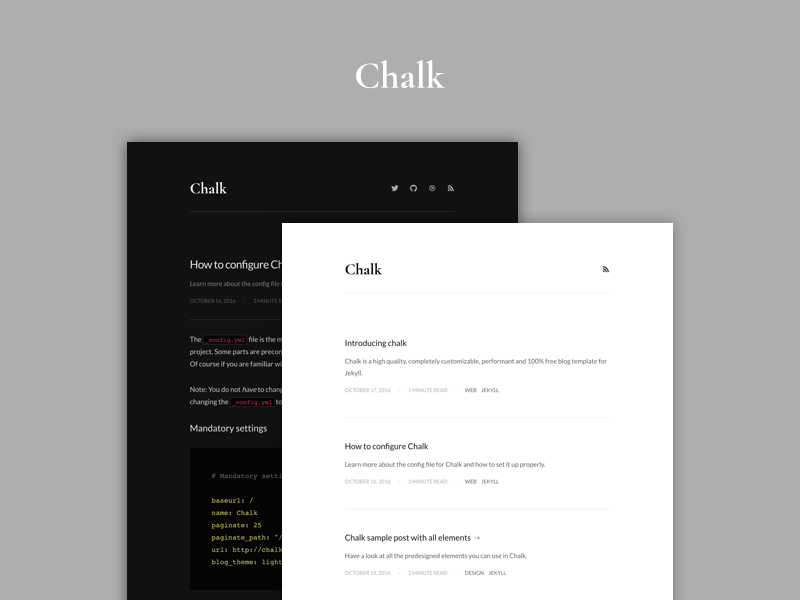Introducing Chalk by Nielsen Ramon on Dribbble