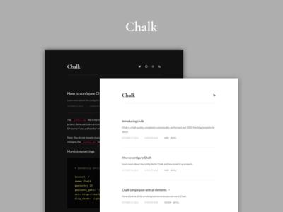 Introducing Chalk news light dark github pages github development blog jekyll