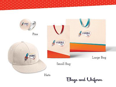 Bags styleguide terra toys design system merch bags