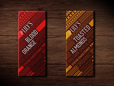 Lily's Chocolate Re-branding packaging