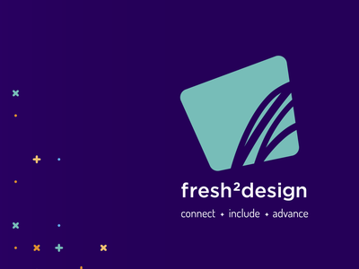 fresh2design Vertical rebrand logo vertical fresh2design f2d