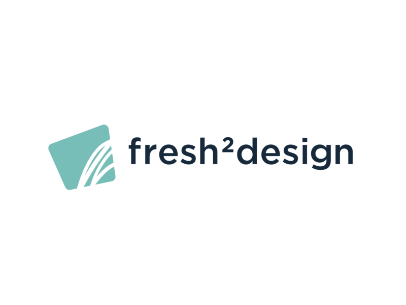 Fresh2design Horizontal Layout Logo rebrand logo fresh2design f2d