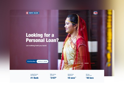 HDFC Bank - Personal Loan Landing Page