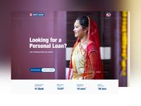 HDFC Bank - Personal Loan Landing Page