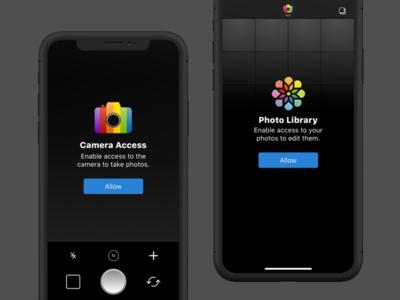 Camera App Permission Prompts