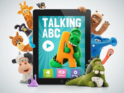 Talking ABC... abc alphabet ios iphone ipad application app clay character animals mobile ui