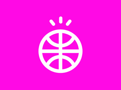 Dribbble Debut! designer nba bball basketball illustration icon design icon iconaday debut dribbble