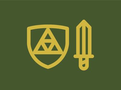 Legend of Zelda - Hylian Shield + Master Sword
