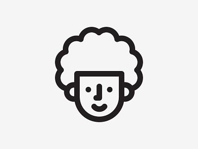 Self-Portrait Icon curly hair indian face line work illustration illustration icon design icon self portrait afro