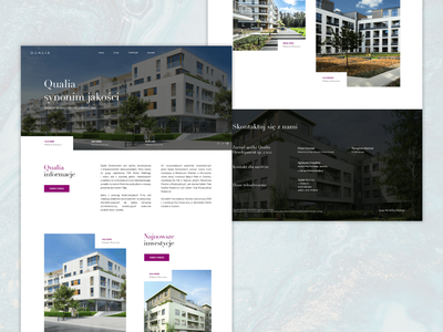 Qualia Development - Website web simple product photography layout interface desktop clean agency ux ui www design website webdesign development realestate