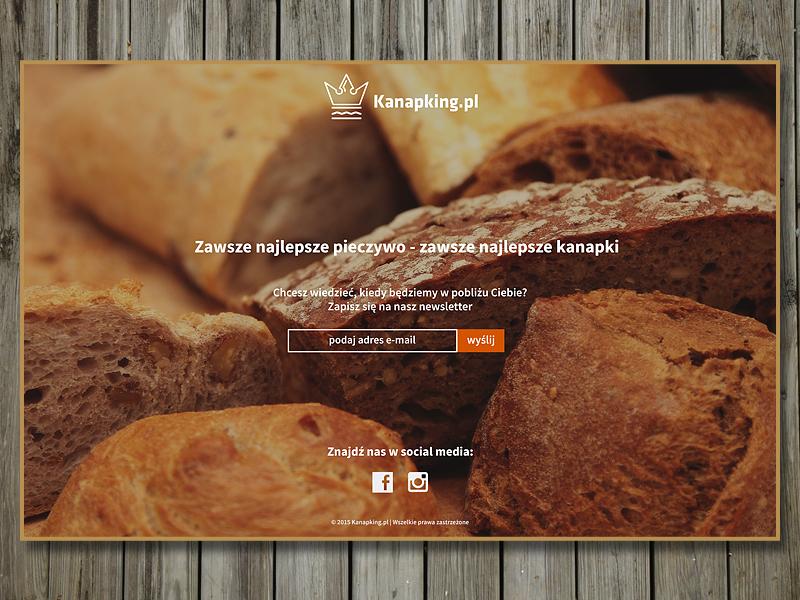 Kanapking website www design landing page
