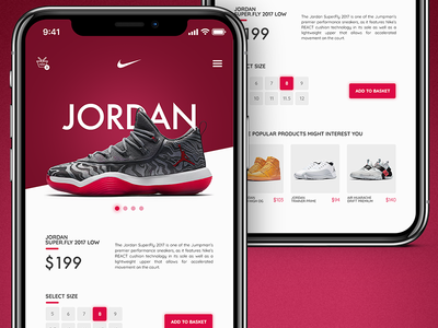 Mobile Nike Store mobile application app sport kicks shoes ecommerce shop eshop nike