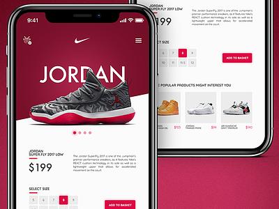 Mobile Nike Store mobile application app sport kicks shoes ecommerce shop eshop nike