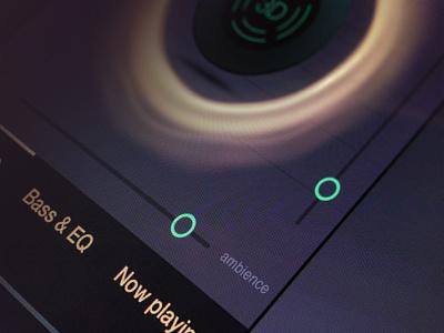 3D audio app UI 3d ui player music audio