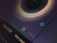 3D audio app UI