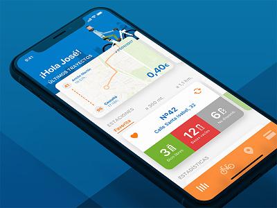 Bicimad redesign - Home (iOS 11 version) ui ux redesign bicimad
