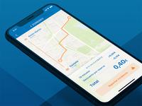 Bicimad redesign - Interior trayecto (iOS 11 version)