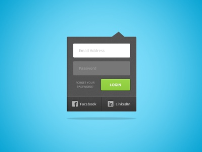 FREEBEE FRIDAY!! login ui user interface drop-down button fields free psd download signin