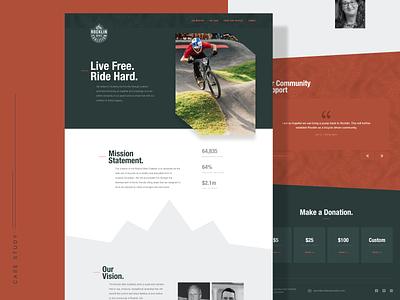 Rocklin Bike Coalition Website bicycle bike marketing homepage nonprofit npo web design web website