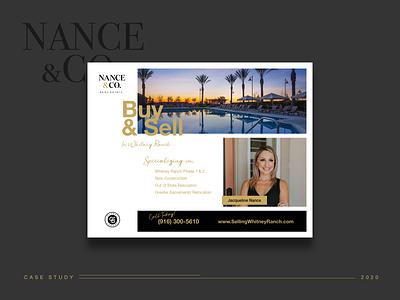 Nance&Co. Flyer modern classy realtor real estate marketing assets collateral branding marketing print flyer