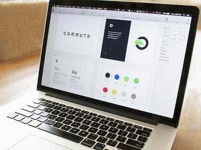 Commutr Brand Concept brand logo commutr guideline font web commute app style style guide