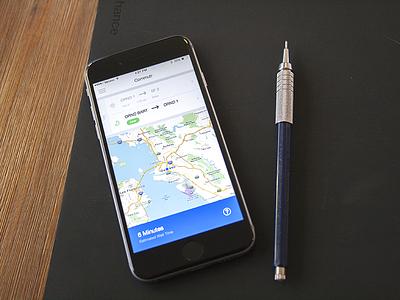 Commuter Live Mode commutr ios app design dashboard mobile estimate iphone ux ui