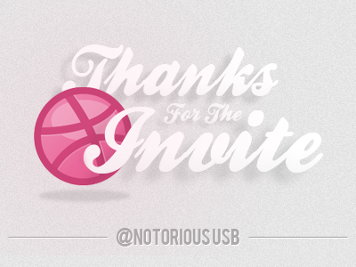 Thanks For The Invite thank you dribbble invite thanks
