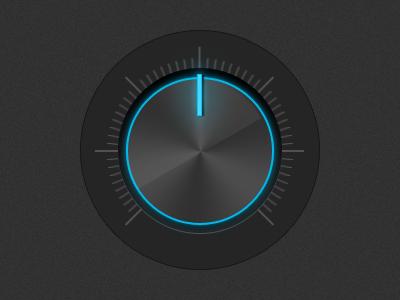 Glowing Volume Dial knob dial ui dark user interface