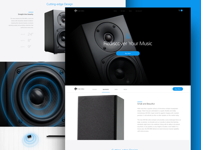Website Concept cta web layout layout shopping cart ecommerce electronics speaker web page landing page web page website