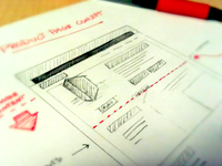 Website UX Concept Sketch