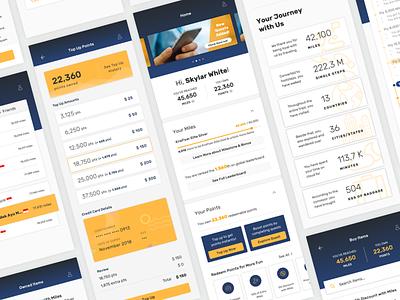 KrisFlyer App - Singapore Airlines' Loyalty Program top up statistics miles point credit card loyalty program loyalty flight apps mobile ux design ui design