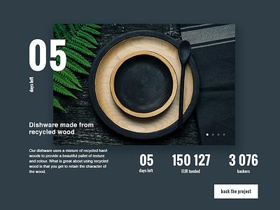 Daily UI - 32 - Crowdfunding Campaign crowdfunding campaign daily ui 032 032 daily ui ui design