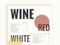 Daily UI #43 - Food/Drink Menu