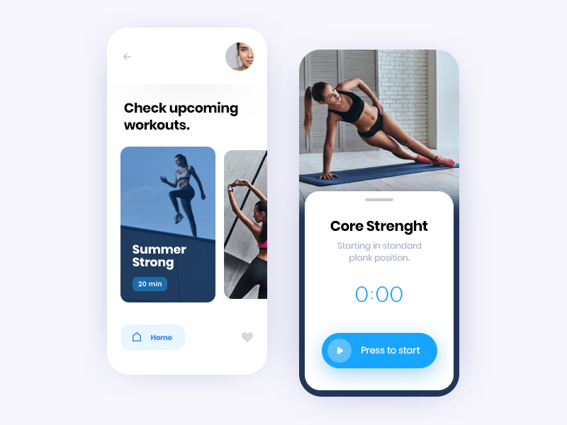 Fit App interface ux ui app concept mobile interaction clean ui clean minimal concept application app tracking app tracker app body workout app workout fitness app fitness fit