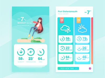 Weather interface queble solutions ui design user interface illustrations window design app ui interface weather