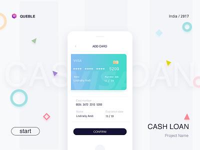 Binding card queble solutions ux interface user mobile login os ui app