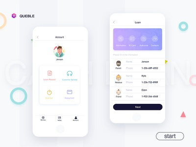 Information Review ux user ui mobile login ios interface app